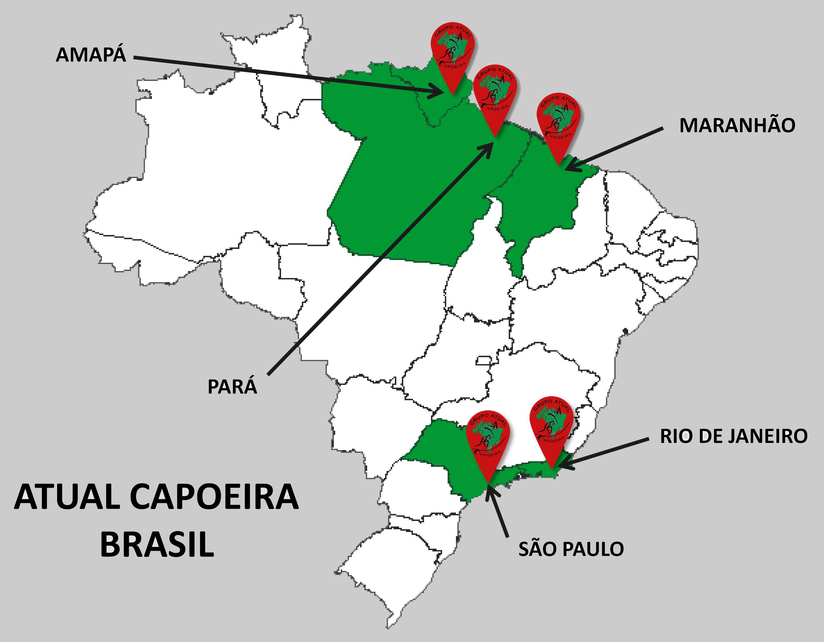 Carte Brésil ATUAL CAPOEIRA