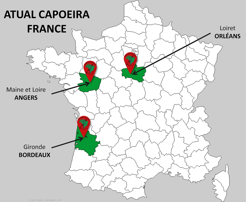 Carte France ATUAL CAPOEIRA